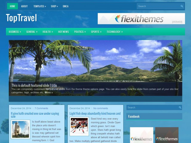 TopTravel Theme Demo