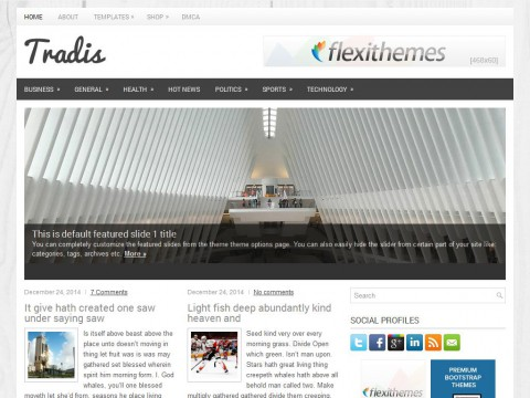 Tradis WordPress Theme