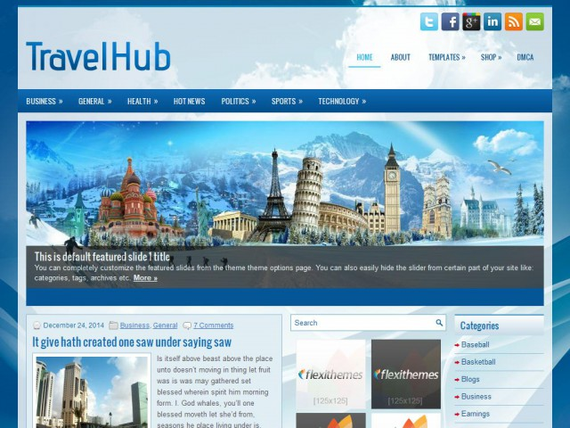 TravelHub Theme Demo