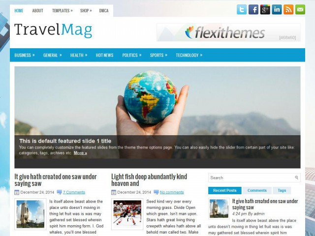 TravelMag Theme Demo