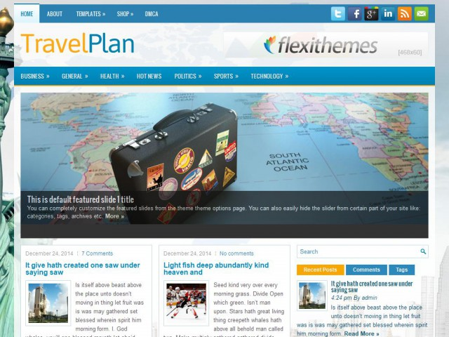 TravelPlan Theme Demo