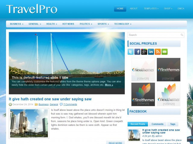 TravelPro Theme Demo