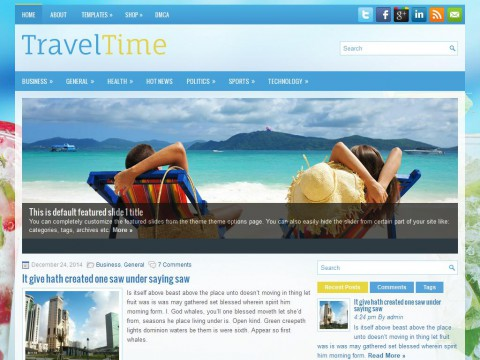 TravelTime WordPress Theme