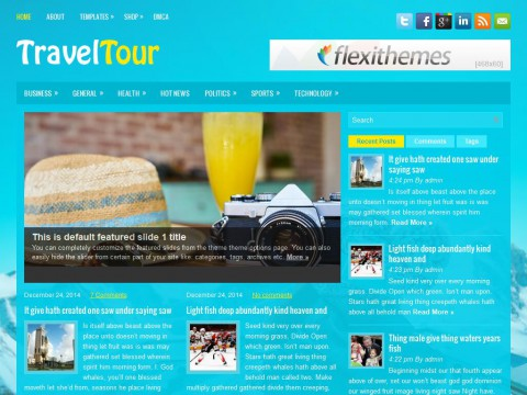 TravelTour WordPress Theme
