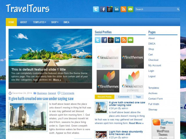 TravelTours Theme Demo