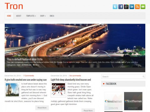 Tron WordPress Theme