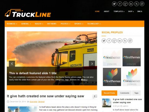 TruckLine WordPress Theme