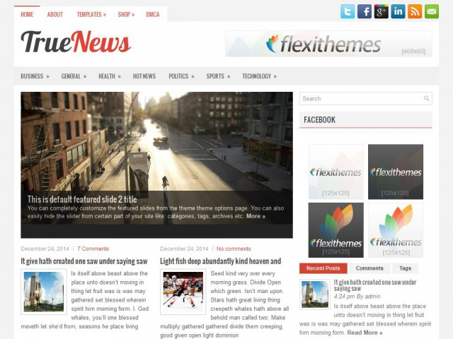 TrueNews Theme Demo