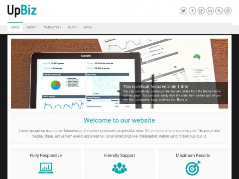 UpBiz WordPress Theme