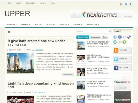 Upper WordPress Theme