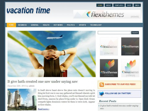 Vacation Time WordPress Theme
