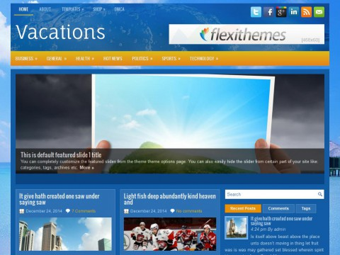 Vacations WordPress Theme