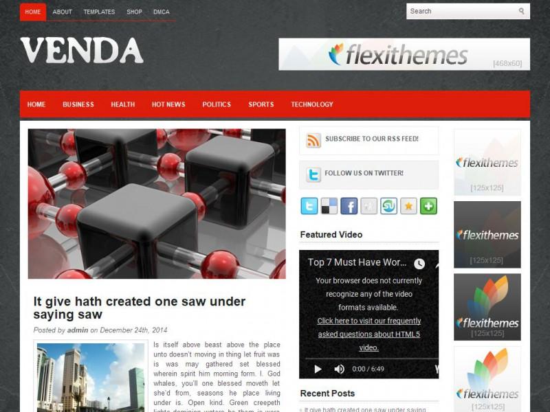 Venda - General/Blog WordPress Theme For 2019