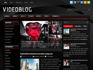 VideoBlog WordPress Theme