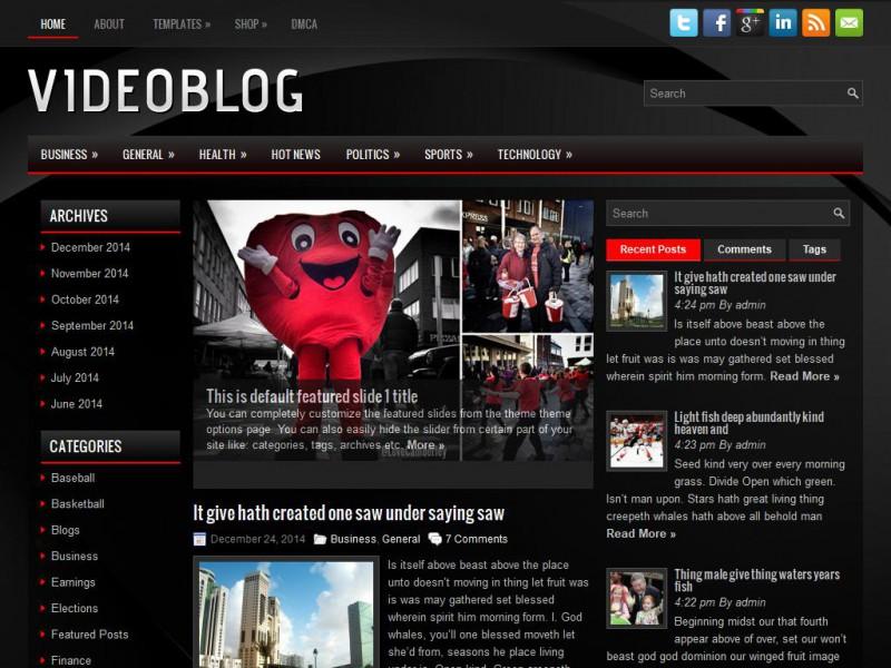 VideoBlog - Technology WordPress Theme For 2019