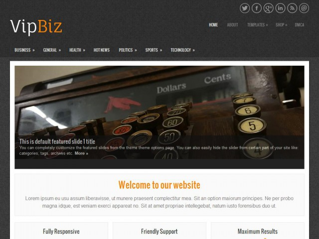 VipBiz Theme Demo