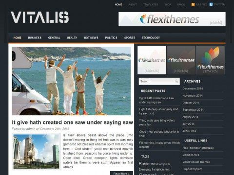 Vitalis WordPress Theme