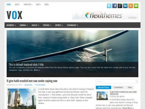 Vox WordPress Theme