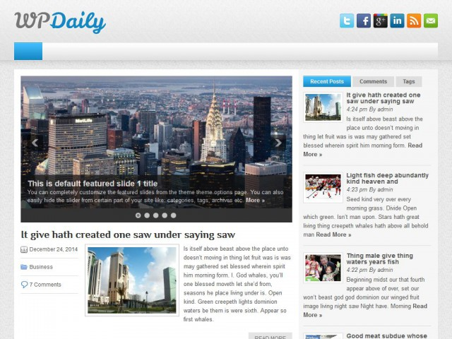 WPDaily Theme Demo
