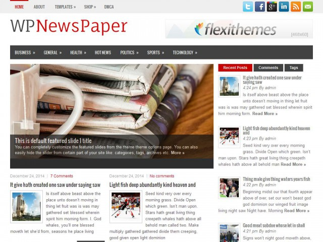 WPNewsPaper Theme Demo