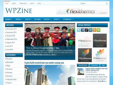 WPZine WordPress Theme