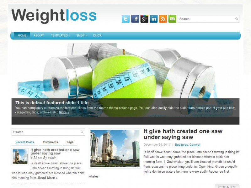 WeightLoss - Health/Fitness WordPress Theme For 2019