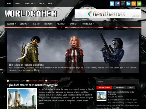 WorldGamer WordPress Theme