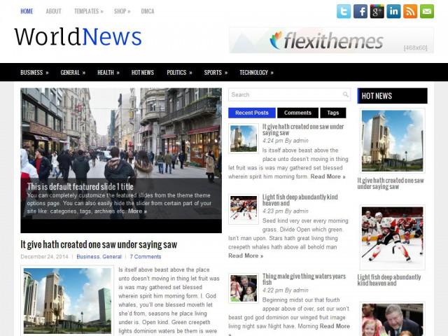 WorldNews Theme Demo