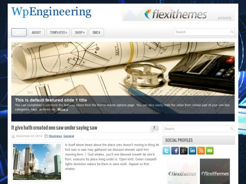 WpEngineering WordPress Theme