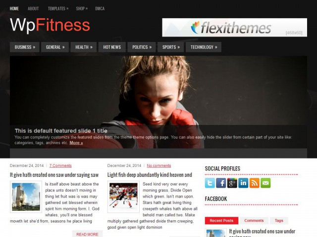 WpFitness Theme Demo