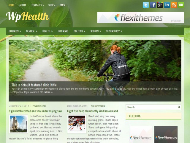 WpHealth Theme Demo