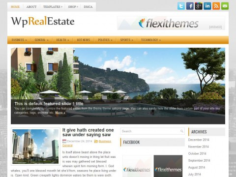 WpRealEstate WordPress Theme