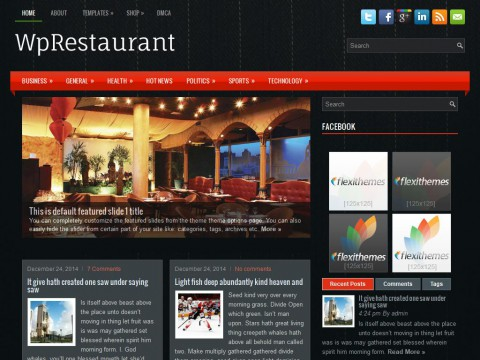 WpRestaurant WordPress Theme