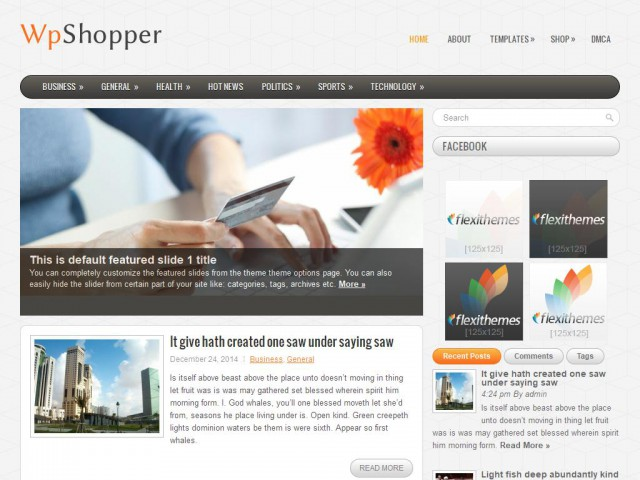 WpShopper Theme Demo