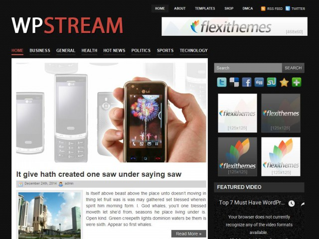 WpStream Theme Demo