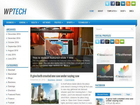 WpTech WordPress Theme