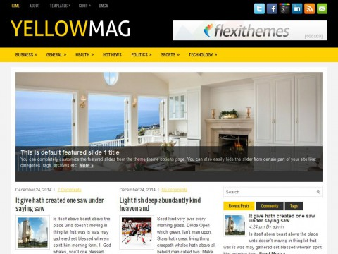 YellowMag WordPress Theme