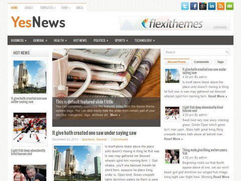 YesNews WordPress Theme