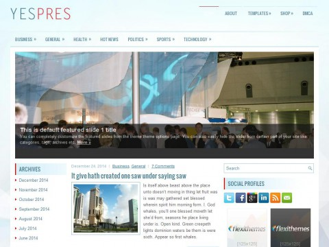 YesPres WordPress Theme