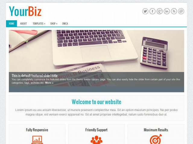 YourBiz Theme Demo