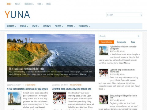 Yuna WordPress Theme