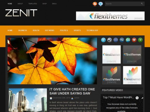 Zenit WordPress Theme