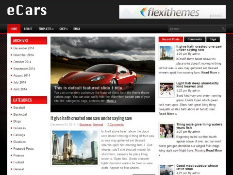 eCars WordPress Theme