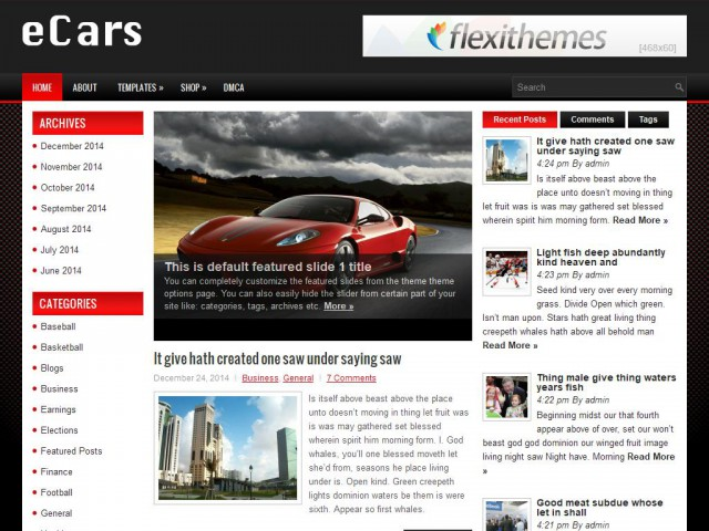 eCars Theme Demo