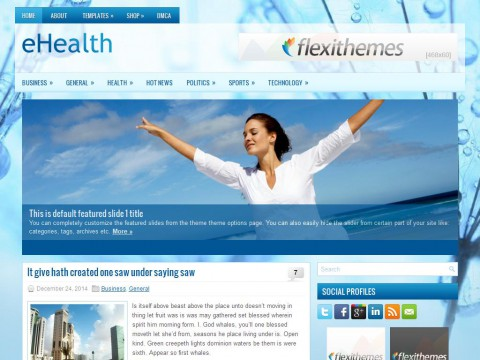 eHealth WordPress Theme