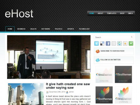 eHost WordPress Theme