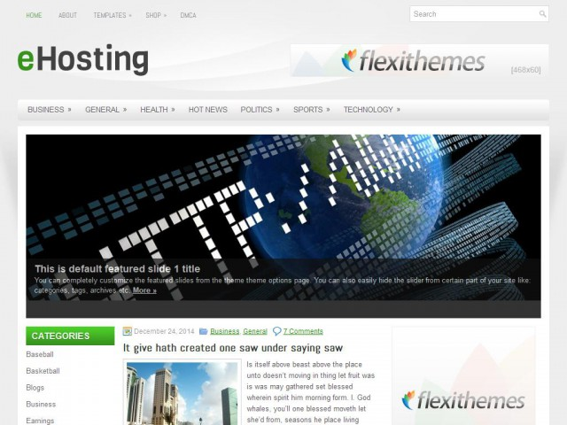 eHosting Theme Demo