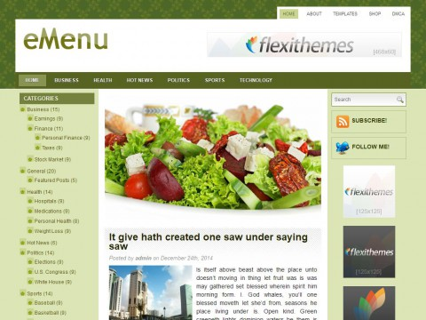 eMenu WordPress Theme