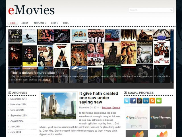 eMovies Theme Demo