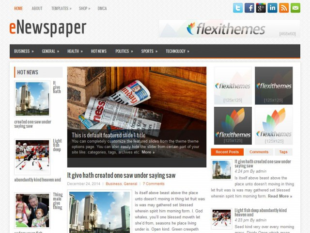 eNewspaper Theme Demo